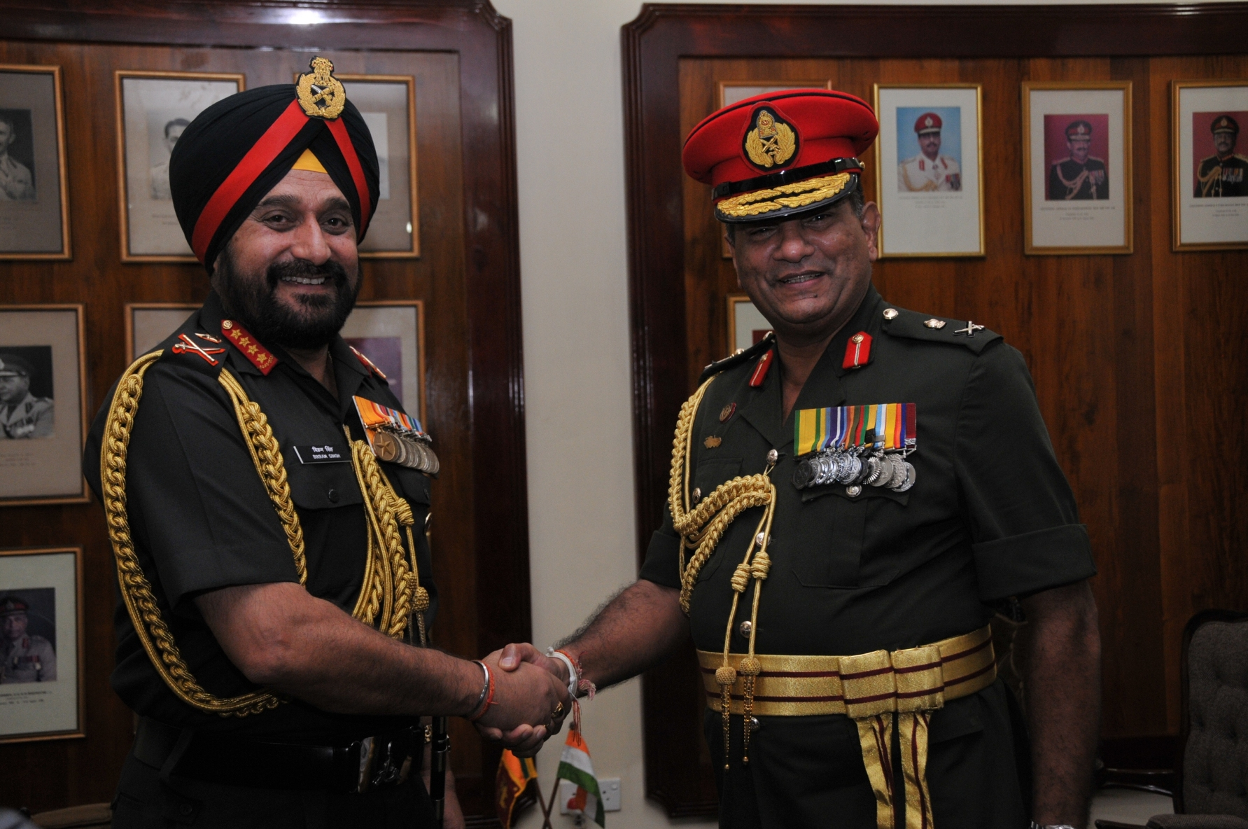 Gen Bikram Singh with Lt Gen Jagath Jayasuriya  Commander of Sri Lankan Army