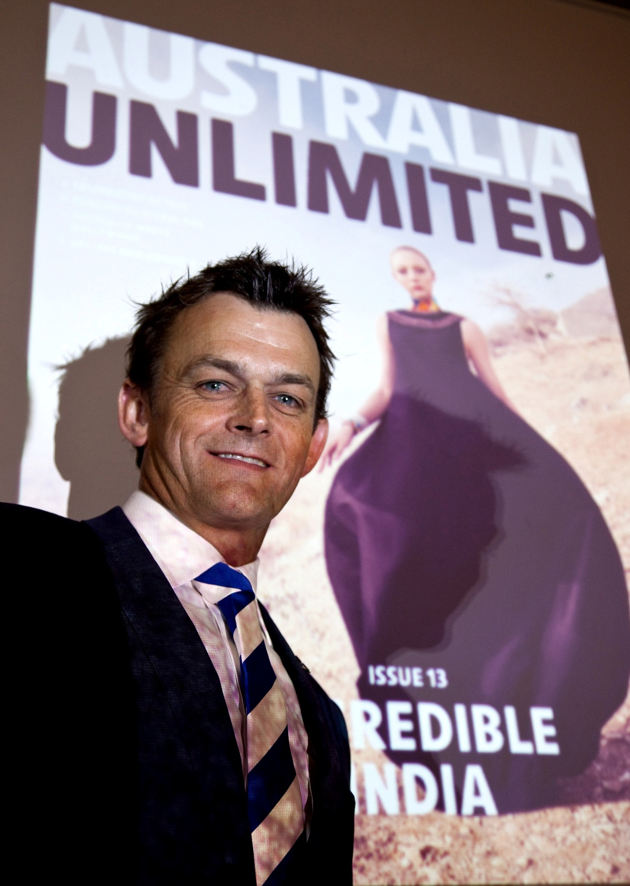 Adam Gilchrist at the launch of Australia Unlimited 1
