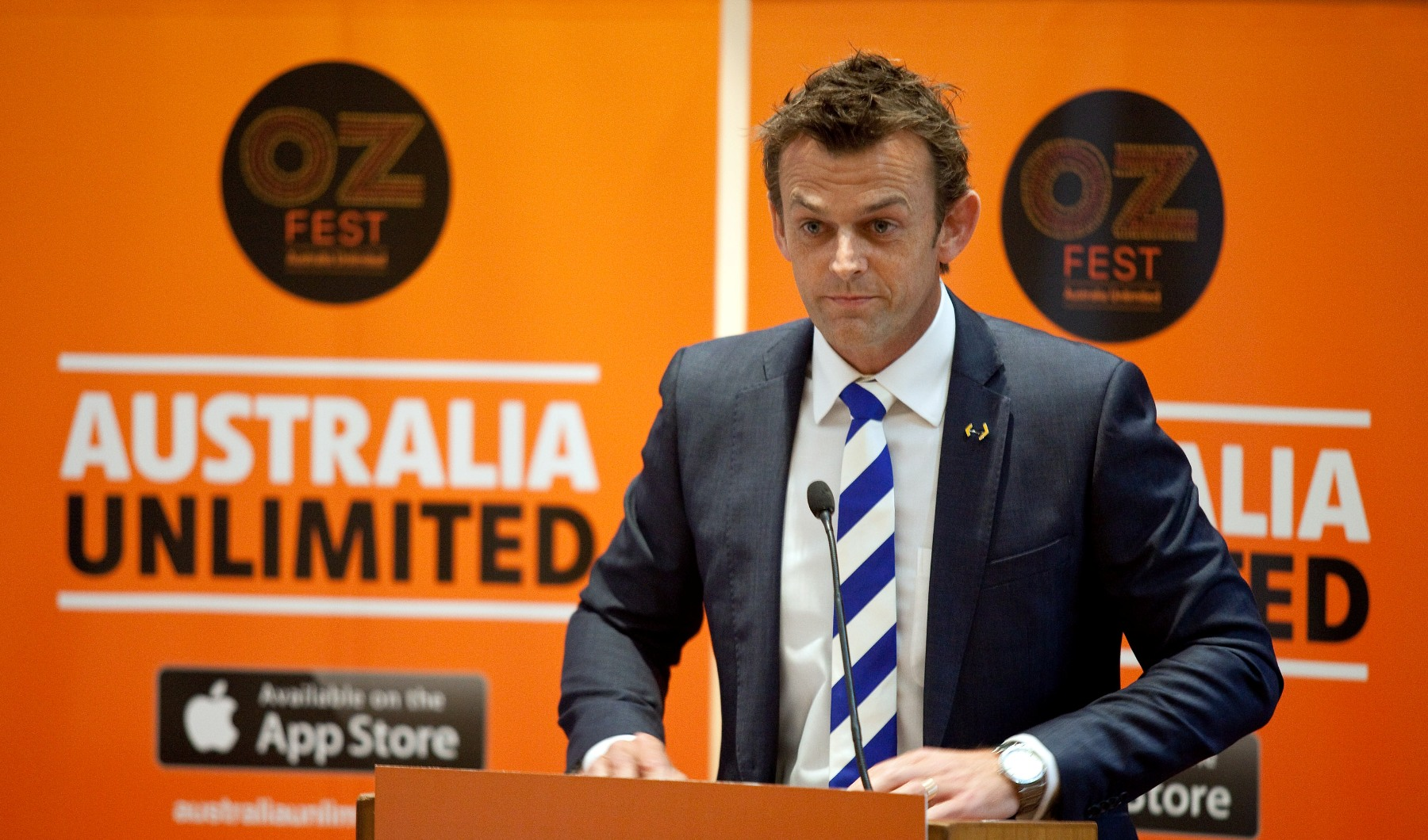 Adam Gilchrist at the launch of Australia Unlimited 2