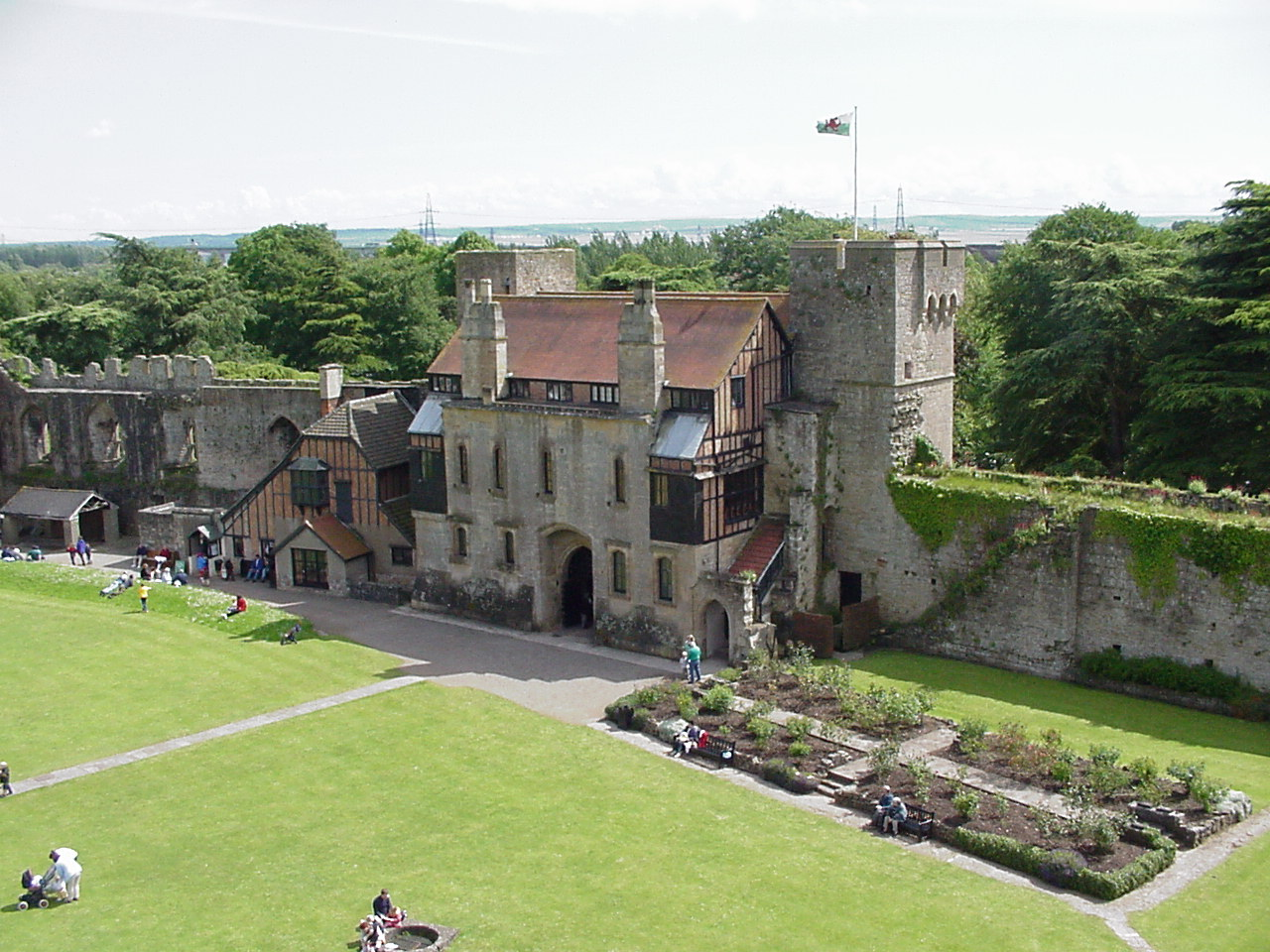 Caldicot Castle gatehouse from Keep
