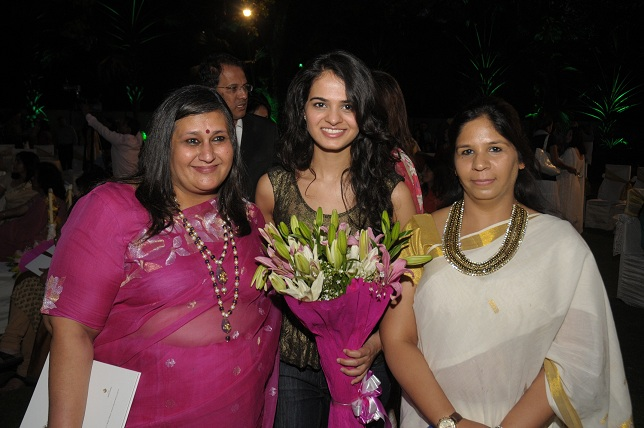 Anshu Khanna  Tanya Sachdeva & Chanchal Kaushik CEO  Nanhi Chhaan Foundation at the launch event of Woman-The Real Je_