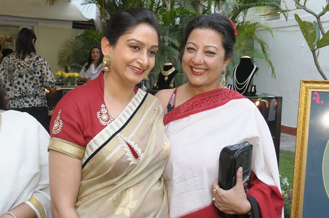 Mrs. Harsrimat Badal Kaur & Neelam Pratam Rudy at the launch event of Woman-The Real Jewel-a tribute to Nanhi Chaan's_