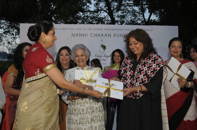 Mrs. Hasrimat Kaur Badal  Praveen Nair & Madhu Jain at the launch event of Woman-The Real Jewel-a tribute to Nanhi Ch_