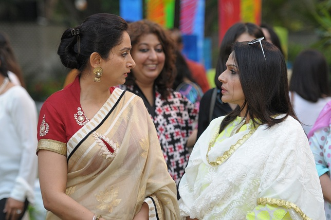 Mrs. Hasrimat kaur Badal & rasil Gujral at the launch event of Woman-The Real Jewel-a tribute to Nanhi Chaan's woman _