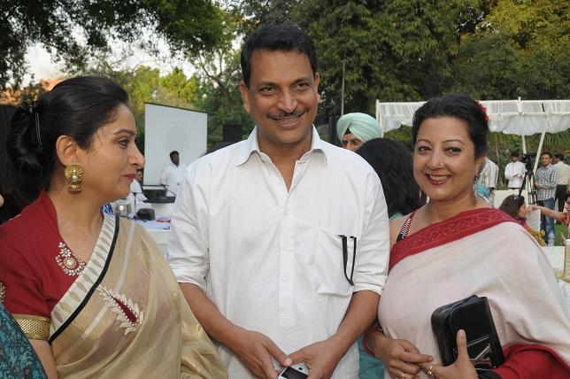 Mrs. Hasrimrat Kaur Badal Rajeev Pratap Rudy & Neelam Pratap Rudy at the launch event of Woman-The Real Jewel-a tribu_