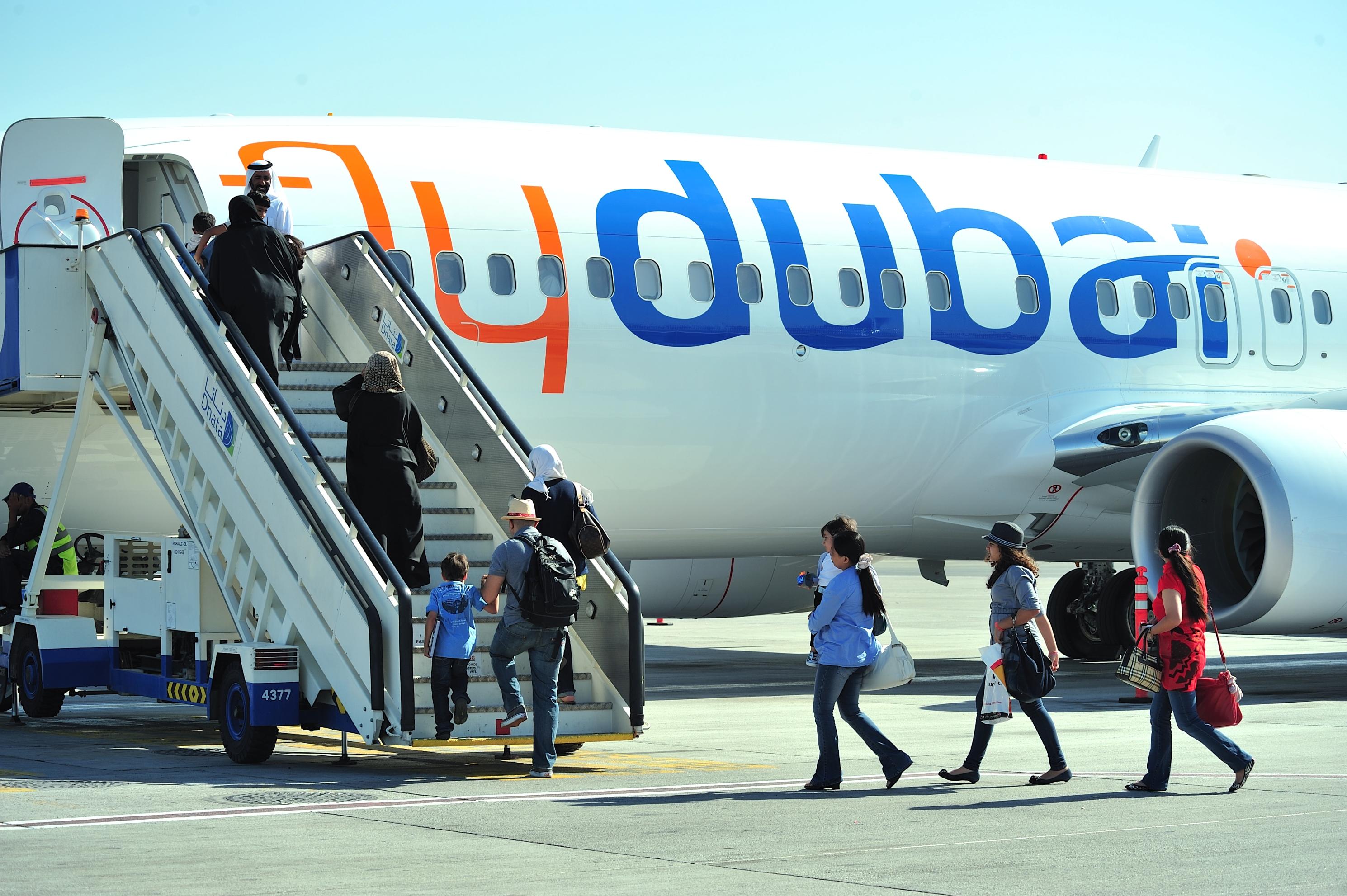 Passengers on flyduai aircraft