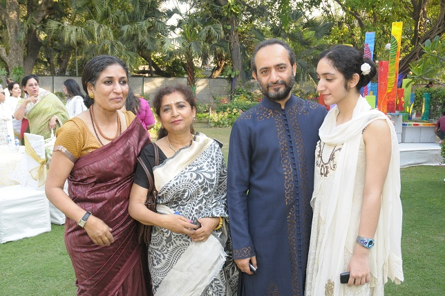 Seema Kohli  Mr & Mrs. Sanjay Bhattacharya with daughter at the launch event of Woman-The Real Jewel-a tribute to Nan_