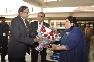 Ms.Manju Sharma  Director – Operations  Jaypee Hotels with Finance Minister Mr.P Chidambaram