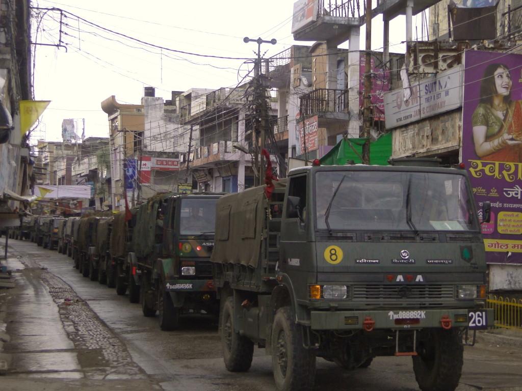 ARMY COLUMN IN MUZAFFARNAGAR