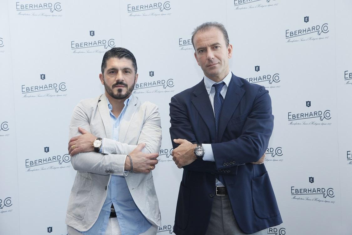 Mario Peserico-CEO Eberhard & Co. - and Gennaro Gattuso