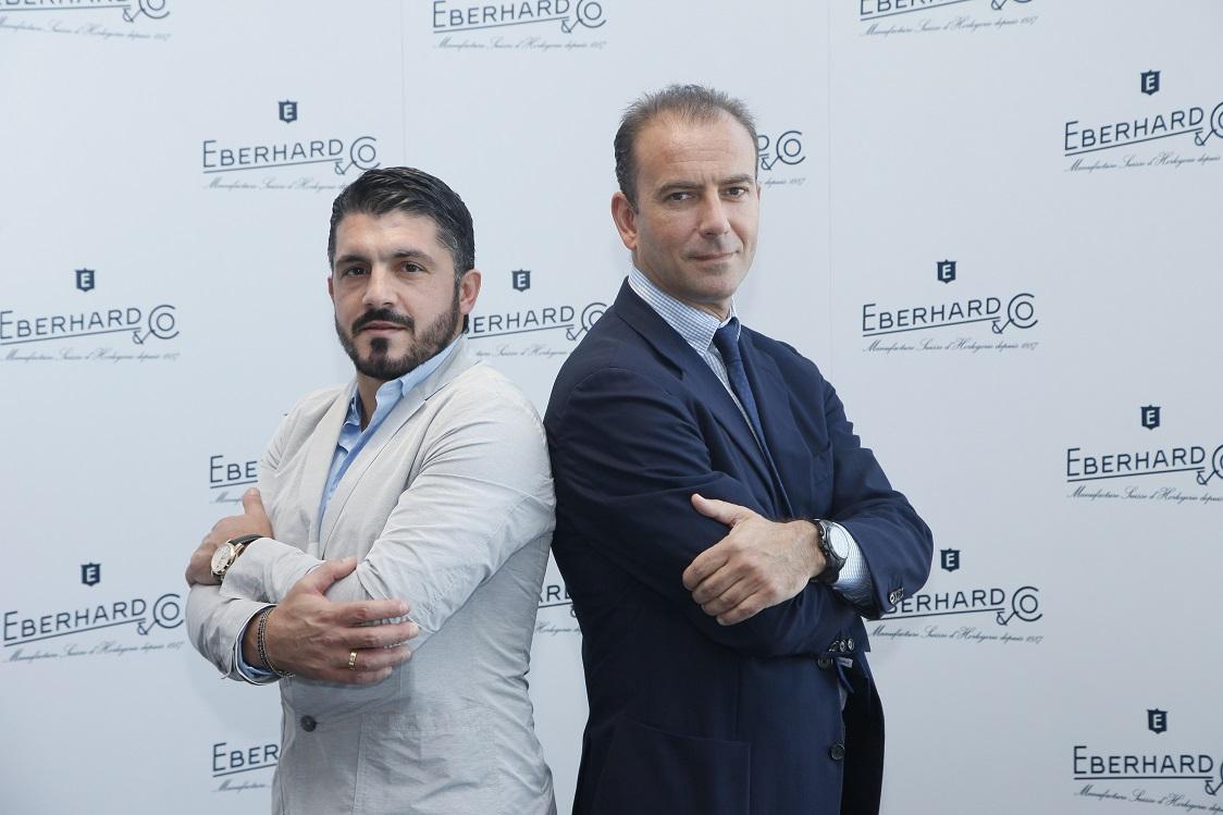 Right to left Mario Peserico-CEO Eberhard & Co. - and Gennaro Gattuso 1
