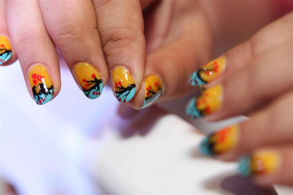 Nail art by a participant