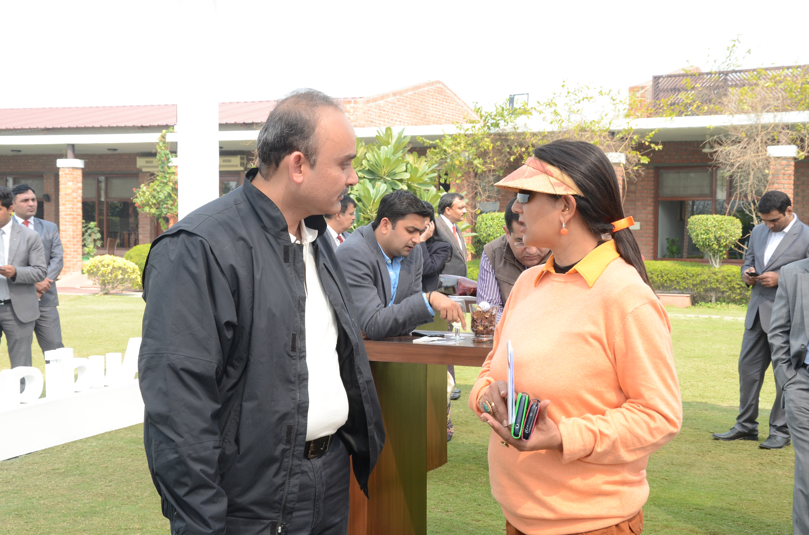 Mr. Sarvajit Verma  Senior Vice President  Audi Delhi West with Ms. Neelam Pratap Rudy