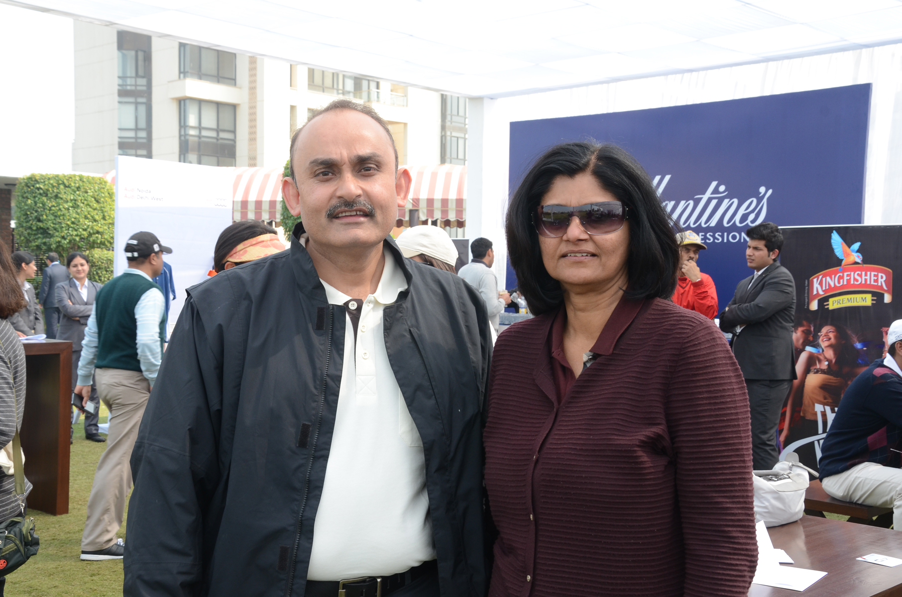 Mr. Sarvajit Verma  Senior Vice President  Audi Delhi West with Ms. Pooja Batra