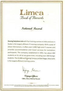 Certificate_Koenig_Limca book of Records