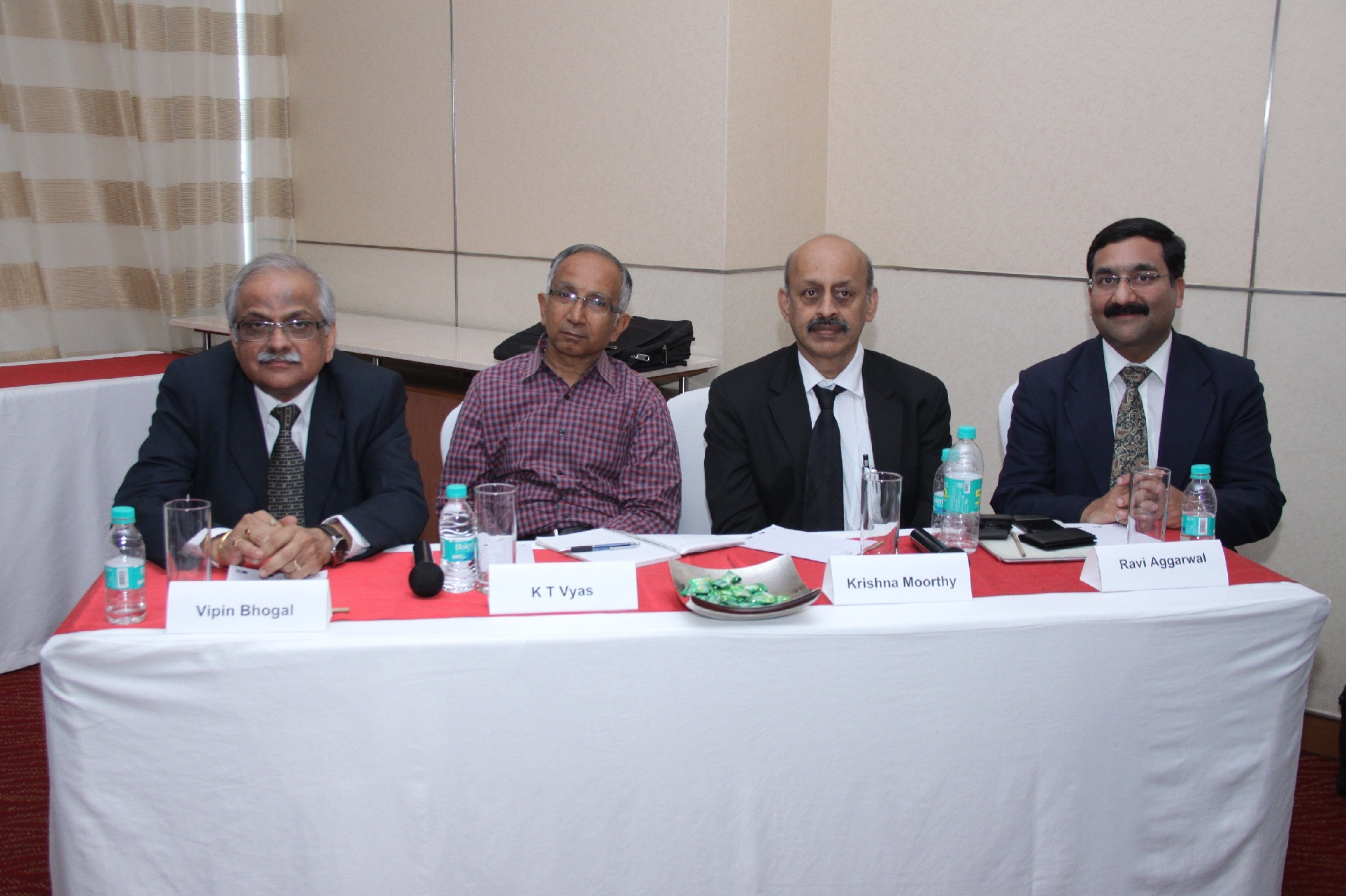Speaker panel (L-R) Vipin Bhogal  Consultant  Steibeis;K.T. Vyas  Indus...