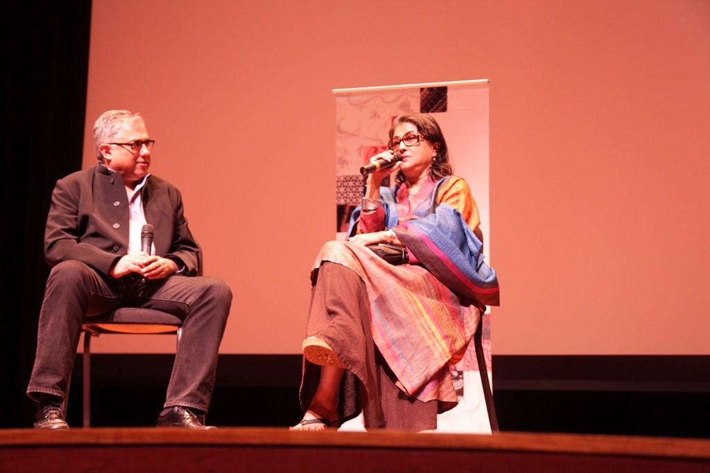 Aseem Chhabra  Director  NYIFF with Director Aparna Sen