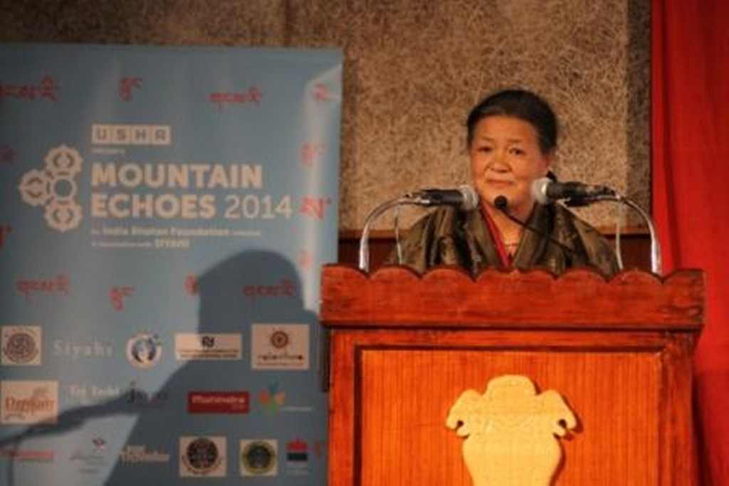Festival Director  Kunzang Choden addressing the audience_1600x1068