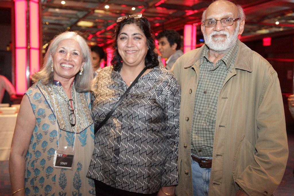 President and Executive Director  NYIFF  Aroon Shivdasani with Director Gurinder Chadha
