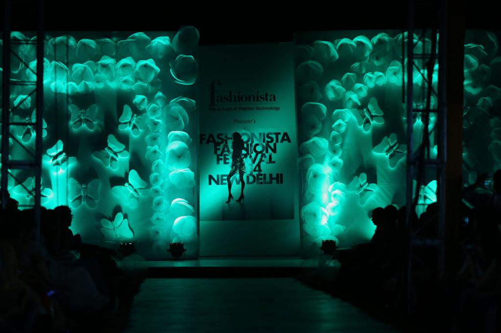 Stage set for the Fashionista's Fashion Festival Ramp Walk
