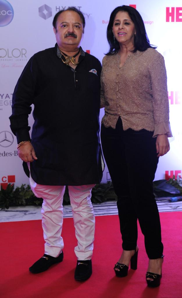 Sanjeev Bali with wife