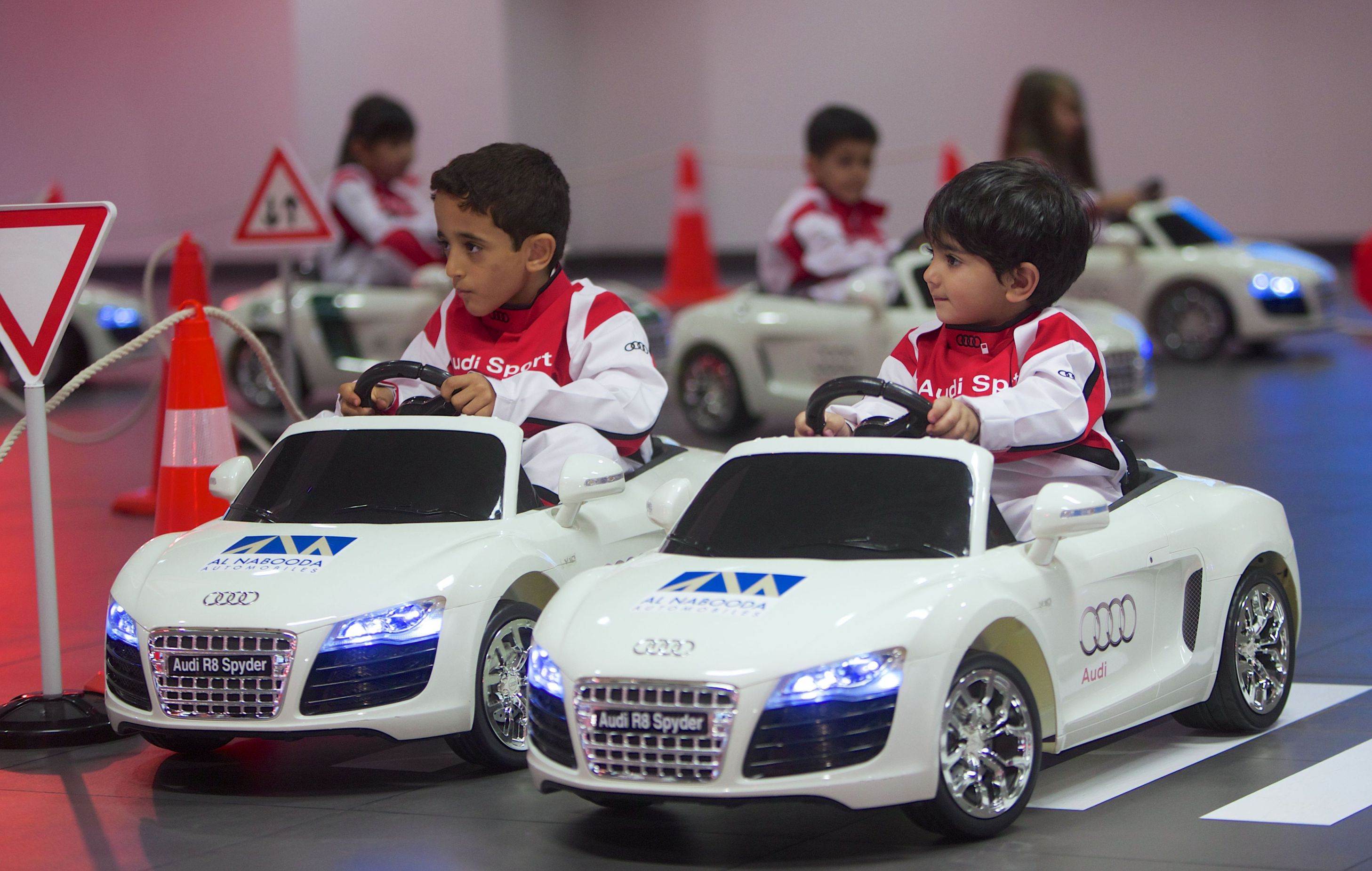audi teaches children early road safety lessons. Black Bedroom Furniture Sets. Home Design Ideas
