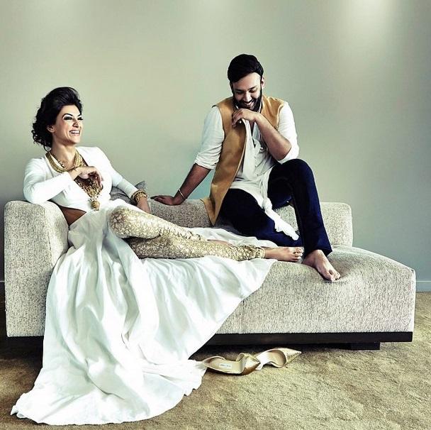 Nikhil Thampi and Sushmita Sen for Harper's Bazaar Bride 1