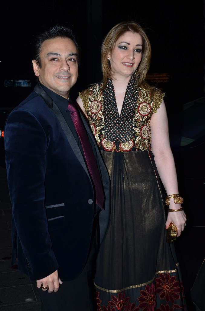 Adnan Sami and wife