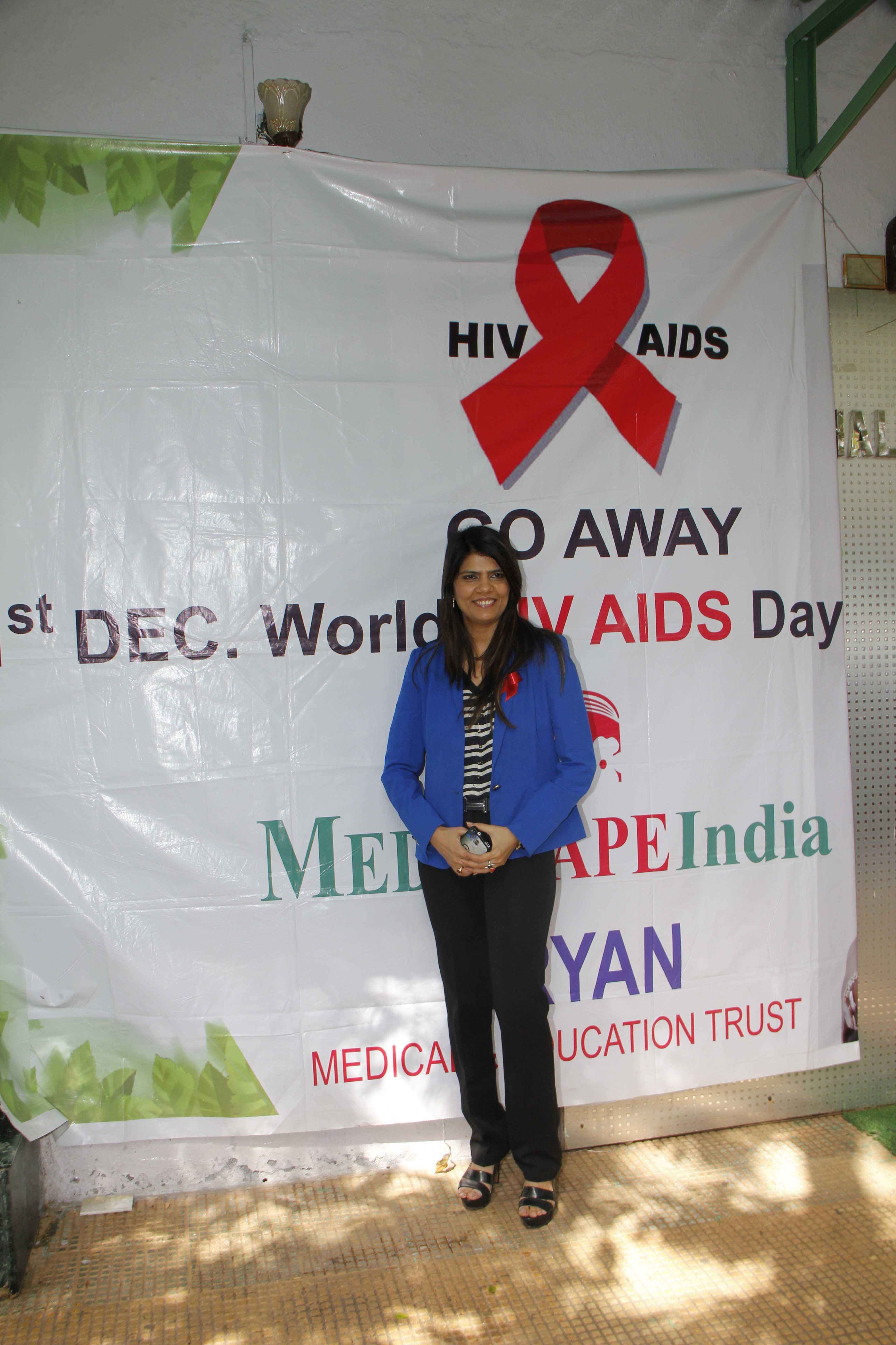 Dr Sunita Dubey At World AIDS Day Event