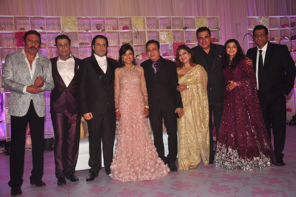 Jacky Shroff Boman Irani at Uday Singh and Shirin recepetion Party
