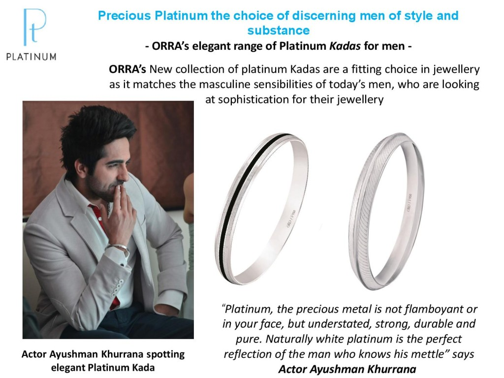 ORRA's elegant range of Platinum Kadas for men