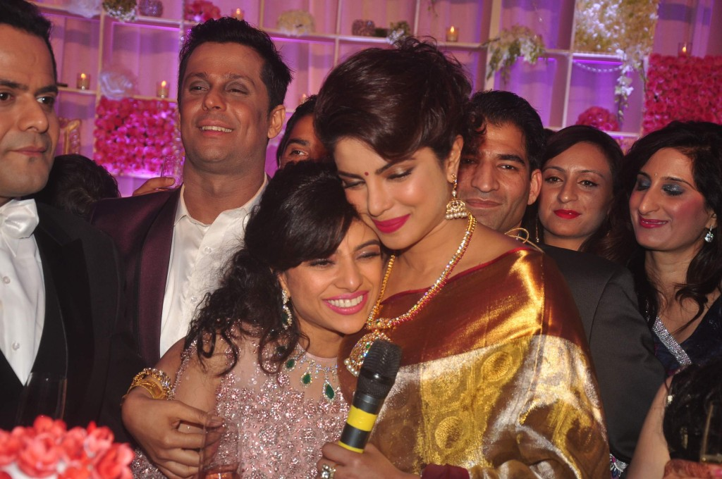 Priyanka Chopra at Uday Singh and Shirin recepetion Party1