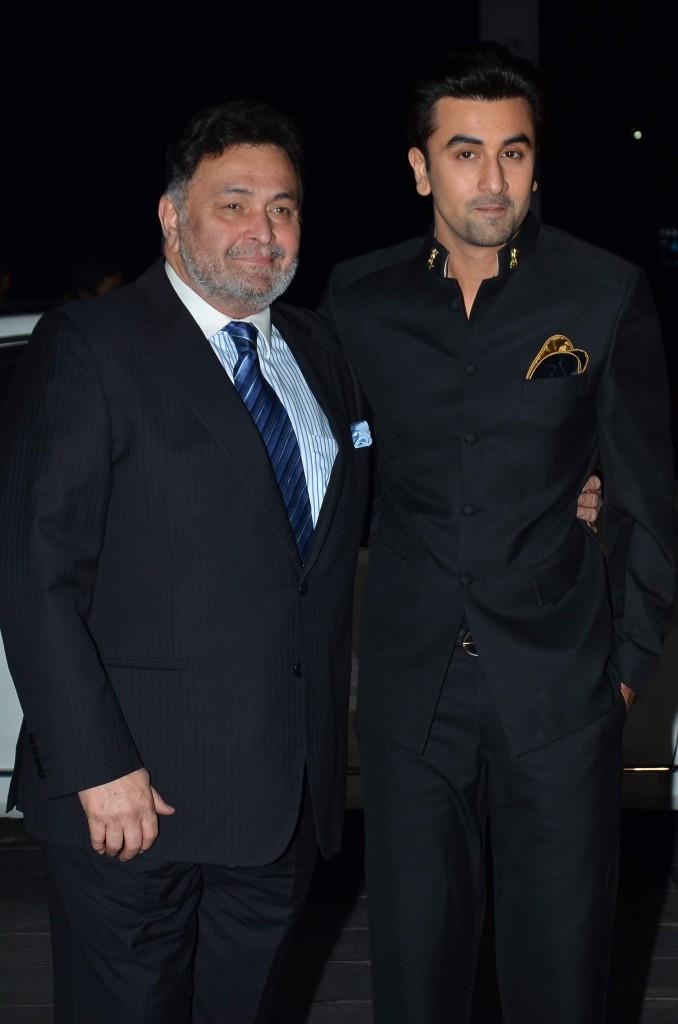 Rishi Kapoor and Ranvir Kapoor