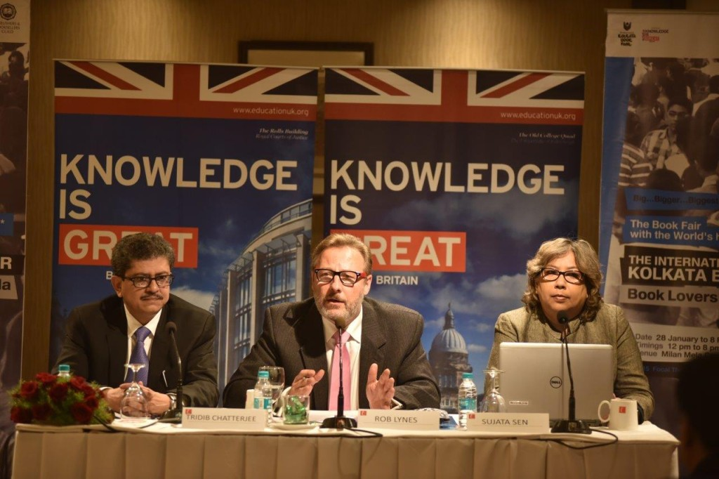 L-R Tridib Chatterjee  General Secretary of The Publishers & Booksellers Guild  Rob Lynes  Director British Council I_