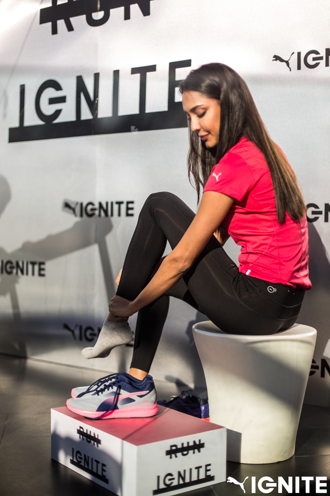 PUMA's new Fitness Ambassador supermodel Lisa Haydon at the launch of IGNITE