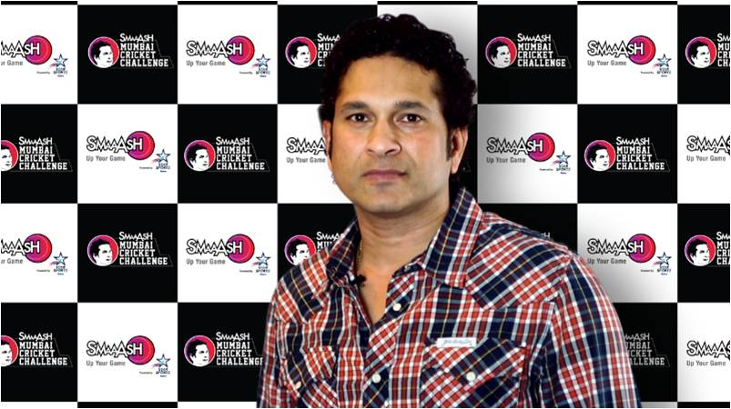 Sachin with SMCC Backdrop