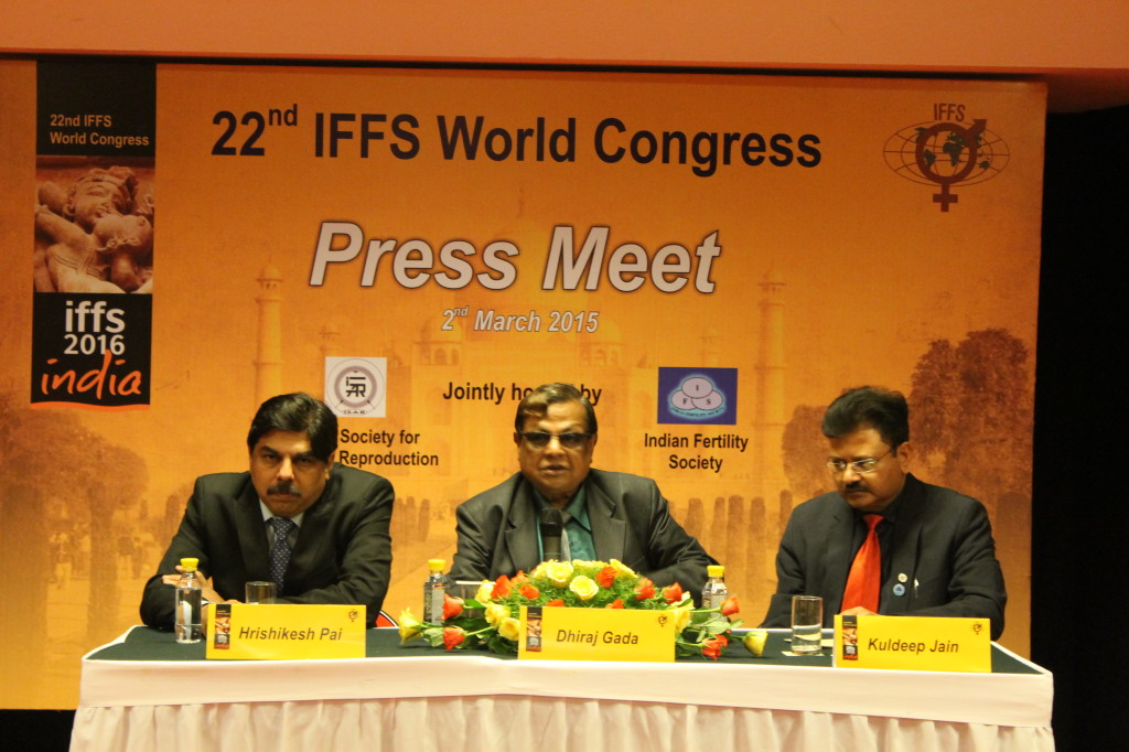 (From left to right) Dr Hrishikesh Pai, Organizing Secretary and President of ISAR, Dr Dhiraj Gadda, the organizing chairperson; former president of ISAR and Dr Kuldeep Jain, organizing Secretary and founder of IFS.