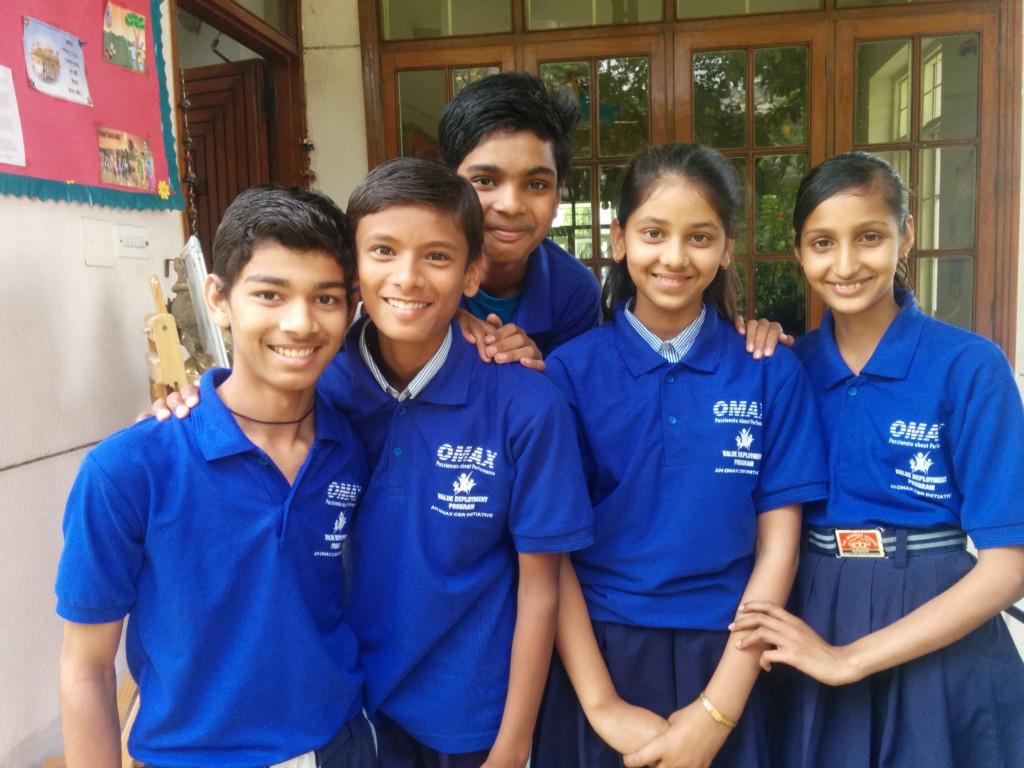 Children during the Omax Saksham Value Deployment Programme