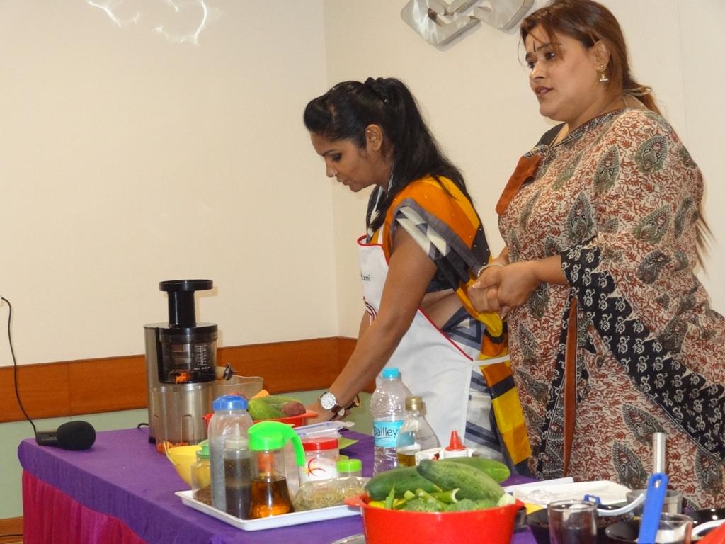 Left Vijaylakshmi (Master chef 2 winner) Right Ms Deepa Antil ( Founder and Director Sashakt Naari Parishad Gurgaon)