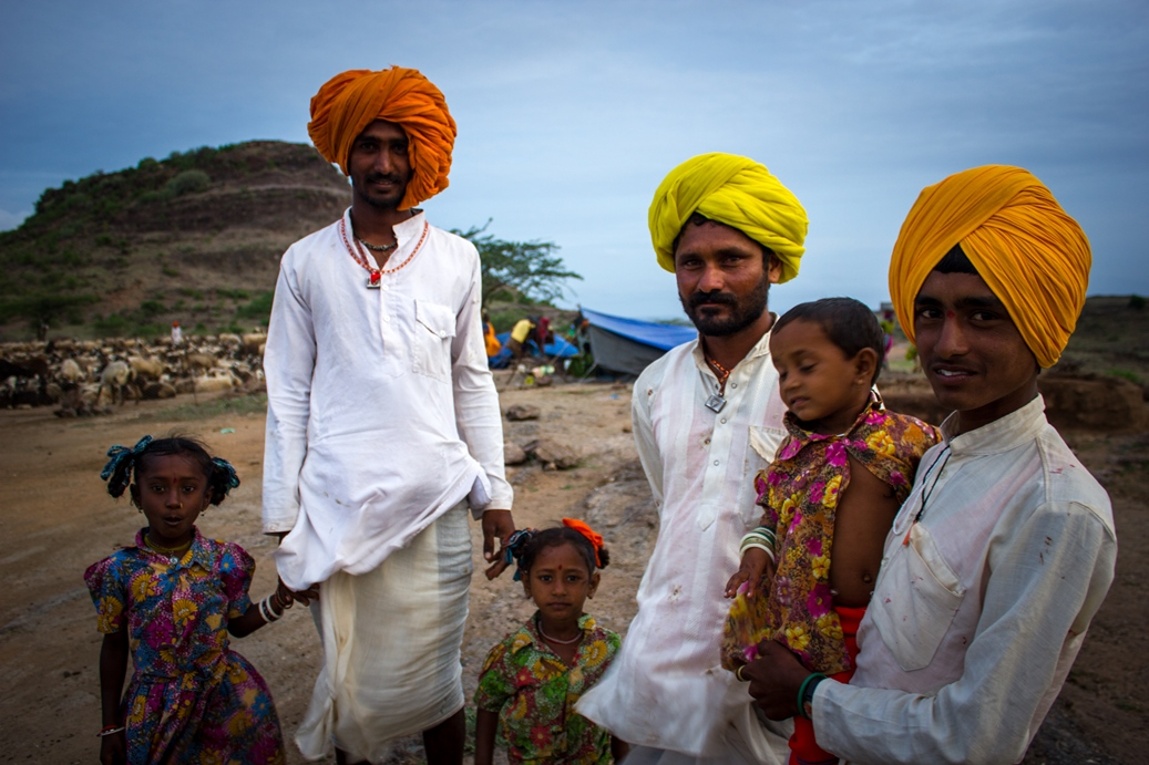 Episode 2 - Deluge.  PICTURE SHOWS:  Nomadic shepherd family in Maharashtra, India, finally arrive home after months following the monsoon rains in search of fresh pasture for their flock.