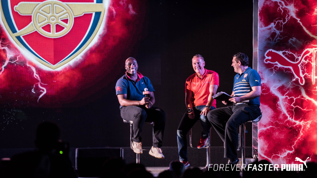 Arsenal legends Ray Parlour and Sol Campbell at first ever public screening of the Invincibles documentary in Asia by_