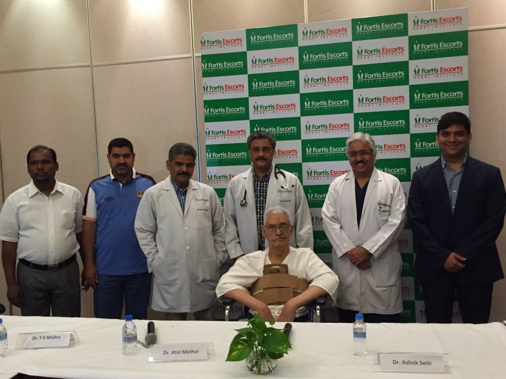 L-R - Dr. Y.K Mishra  Dr. Atul Mathur  Mr. Fadhil Hamood  Dr. Ashok Seth  Dr. Sumesh Mittal