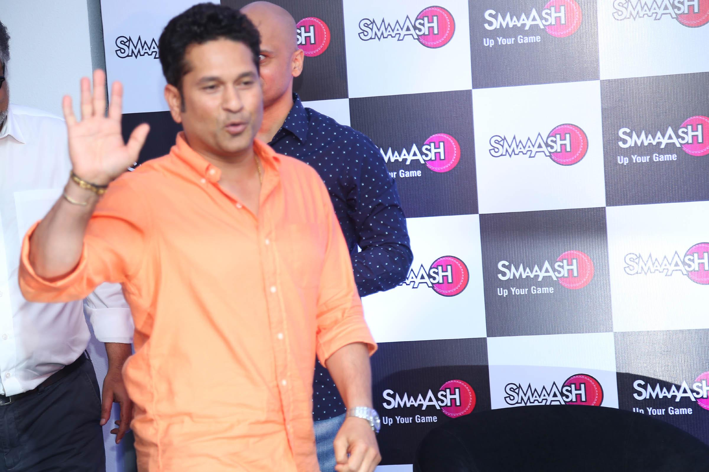 Sachin Tendulkar at the launch event