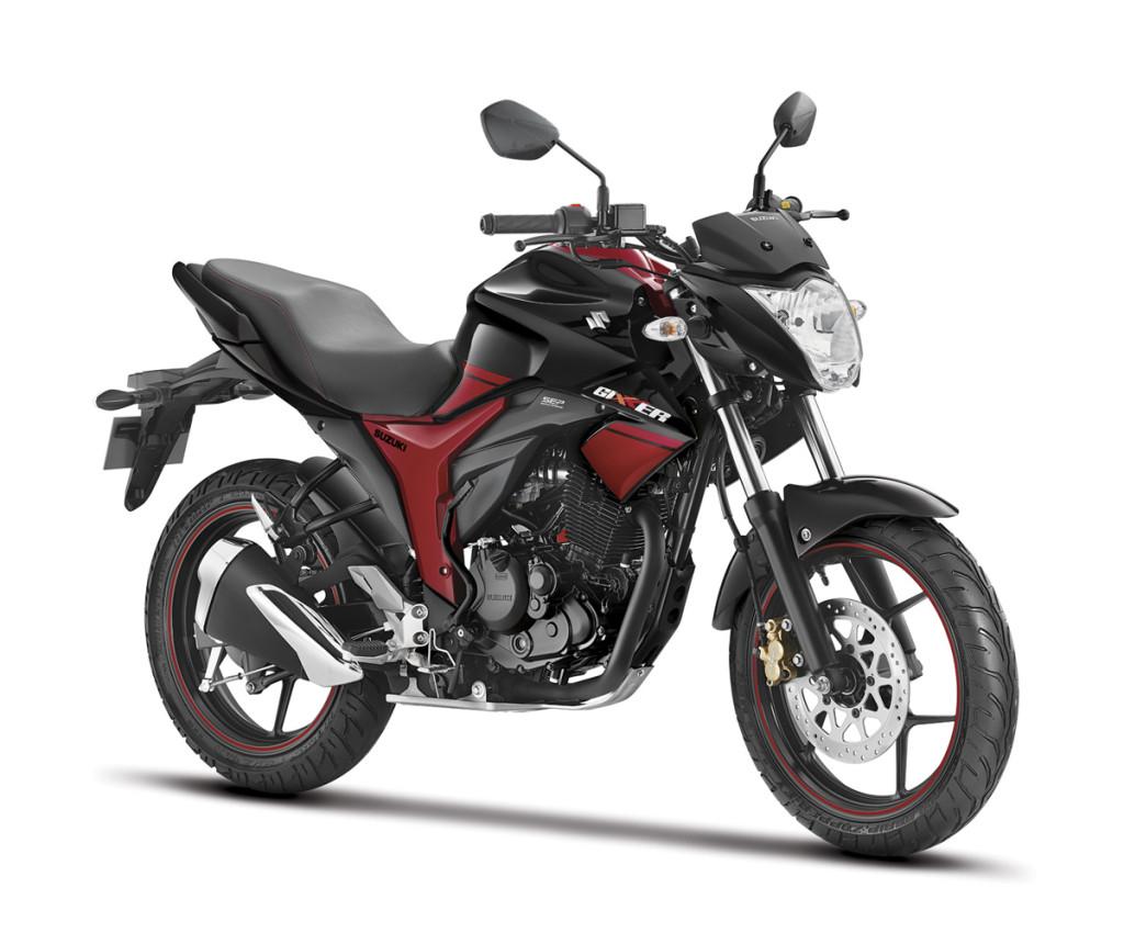 Suzuki Gixxer Dual Tone Black and Red