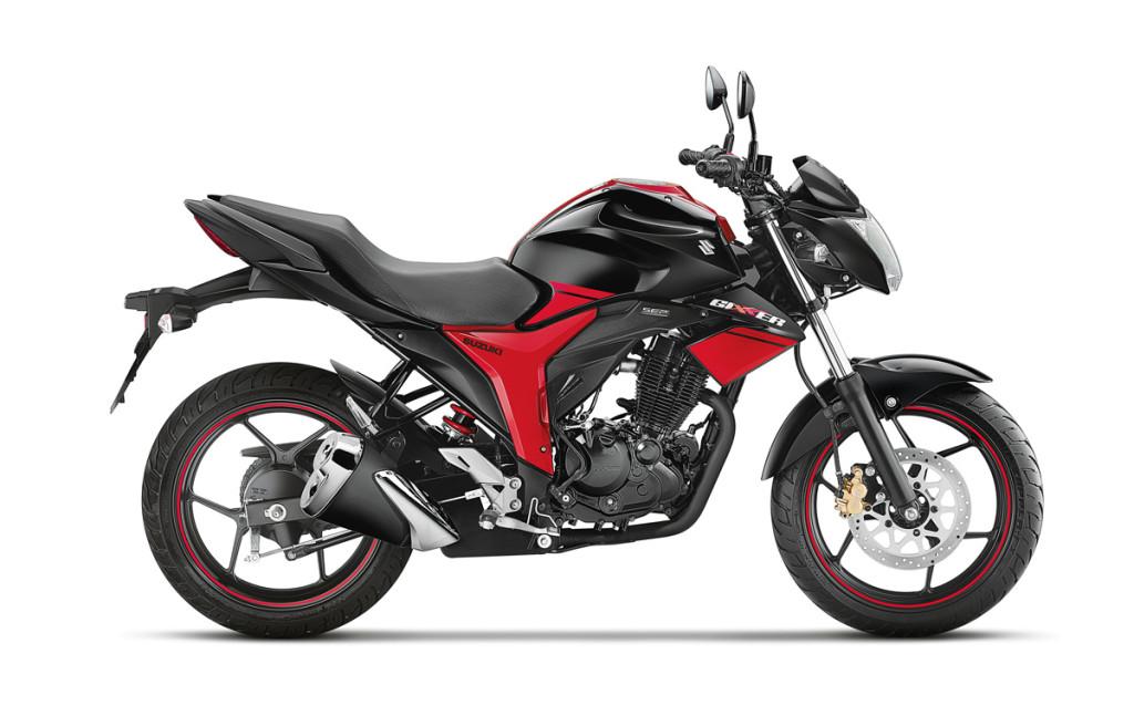 Suzuki Gixxer Dual Tone Black and Red (side)