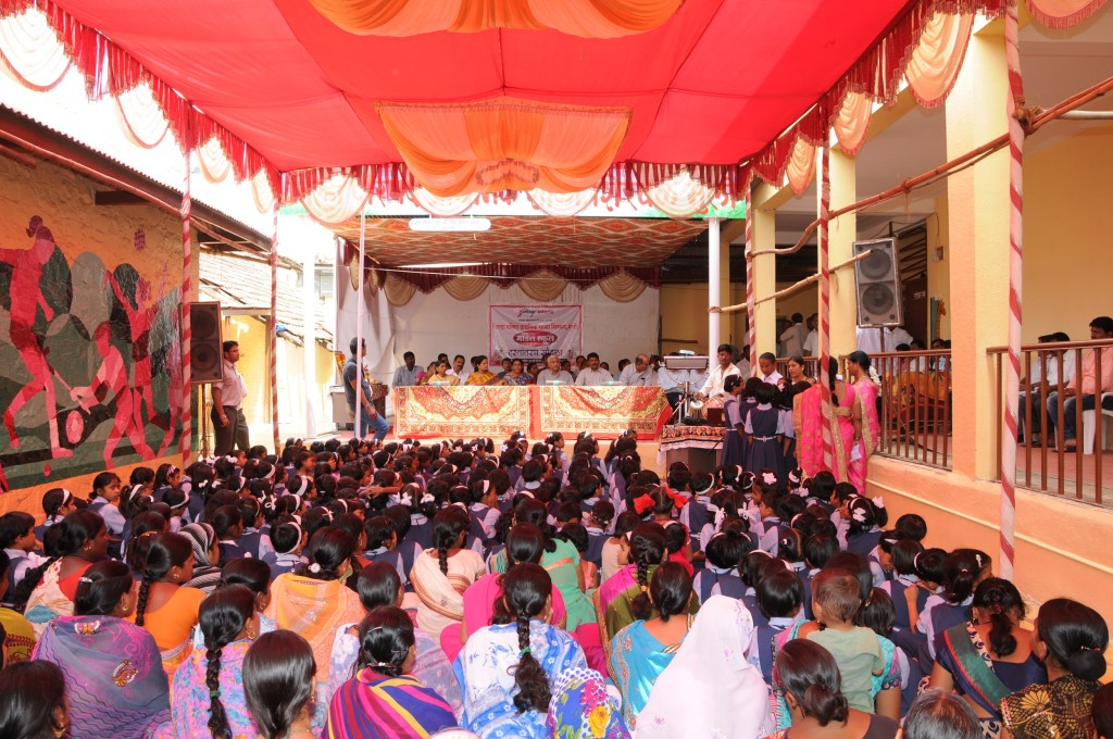 Inauguration of SHirwal school - pic1