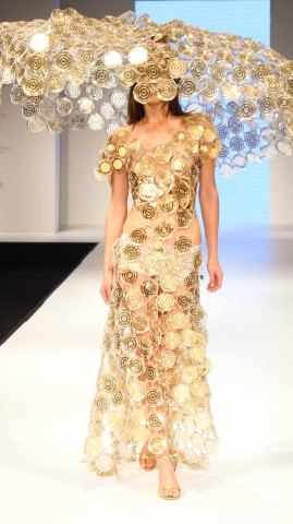 A Model showcasing collection from Larisa Katz from Germany