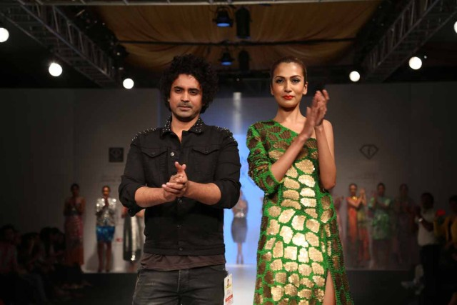 Designer Rahul Singh with the Model