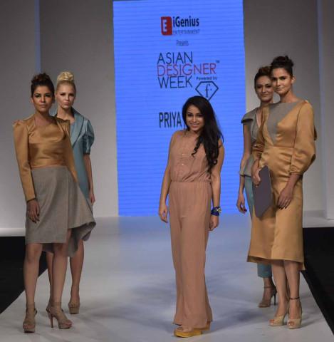 Next Gen designer Priya with her Models