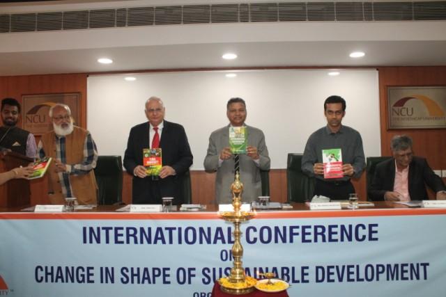 Launch of 3 books written by Ms. Ritu Dhingra  Research scholar  The NorthCap University